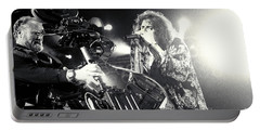 Aerosmith-steven-25 Portable Battery Charger by Timothy Bischoff