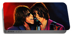 Aerosmith Toxic Twins Painting Portable Battery Charger by Paul Meijering