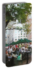 Afternoon At Faneuil Hall Portable Battery Charger by Jeff Kolker