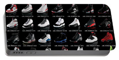 Air Jordan Shoe Gallery Portable Battery Charger by Brian Reaves