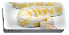 Albino Royal Python Portable Battery Charger by Michel Gunther