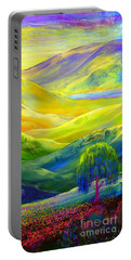 Wildflower Meadows, Amber Skies Portable Battery Charger by Jane Small