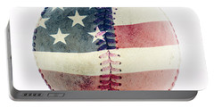 American Baseball Portable Battery Charger by Terry DeLuco