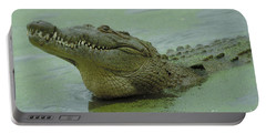 American Crocodile Portable Battery Charger by Raymond Cramm
