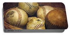 American Pastime  Portable Battery Charger by Heather Applegate