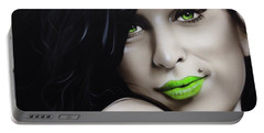 Amy Winehouse - ' Amy Jade ' Portable Battery Charger by Christian Chapman Art