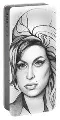 Amy Winehouse Portable Battery Charger by Olga Shvartsur