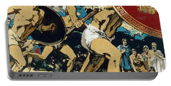 Ancient Olympic Games  The Relay Race Portable Battery Charger by Unknown