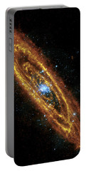 Andromeda Galaxy Portable Battery Charger by Adam Romanowicz