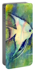 Angelfish I Portable Battery Charger by Hailey E Herrera