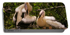 Anhinga Chicks Portable Battery Charger by Ron Sanford