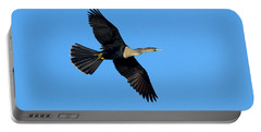 Anhinga Female Flying Portable Battery Charger by Anthony Mercieca