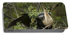 Anhinga Mama Portable Battery Charger by Phill Doherty