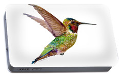 Anna Hummingbird Portable Battery Charger by Amy Kirkpatrick