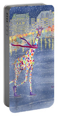 Annabelle On Ice Portable Battery Charger by Rhonda Leonard