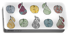Apples And Pears Portable Battery Charger by Sarah Hough