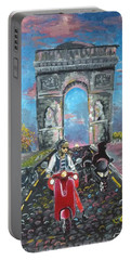 Arc De Triomphe Portable Battery Charger by Alana Meyers