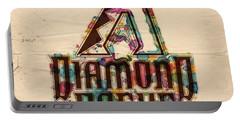 Arizona Diamondbacks Poster Vintage Portable Battery Charger by Florian Rodarte