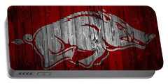 Arkansas Razorbacks Barn Door Portable Battery Charger by Dan Sproul