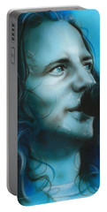 Eddie Vedder - ' Arms Raised In A V ' Portable Battery Charger by Christian Chapman Art