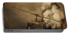 Army Helicopter Explosion Portable Battery Charger by Dan Sproul
