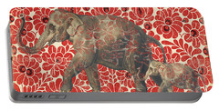 Asian Elephant-jp2185 Portable Battery Charger by Jean Plout