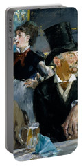 At The Cafe Concert Portable Battery Charger by Edouard Manet