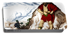 Atlas And Perseus, Greek Mythology Portable Battery Charger by Photo Researchers