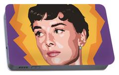 Audrey Portable Battery Charger by Douglas Simonson