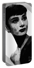 Audrey Hepburn - Pencil Portable Battery Charger by Doc Braham