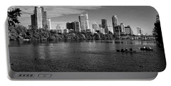 Austin Skyline Bw Portable Battery Charger by Judy Vincent