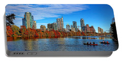 Austin Skyline Painted Portable Battery Charger by Judy Vincent