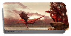 Autumn Dragons Portable Battery Charger by Daniel Eskridge