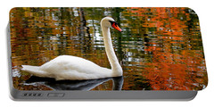 Autumn Swan Portable Battery Charger by Lourry Legarde