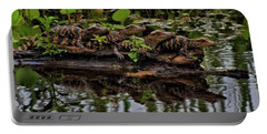 Baby Alligators Reflection Portable Battery Charger by Dan Sproul