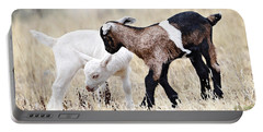 Baby Goats Painting Portable Battery Charger by Marvin Blaine
