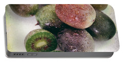 Baby Kiwi Distressed Portable Battery Charger by Iris Richardson