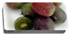 Baby Kiwi With Text Portable Battery Charger by Iris Richardson