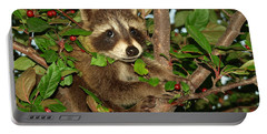 Baby Raccoon Portable Battery Charger by James Peterson