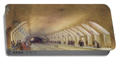 Baker Street Station, 1863 Wc & Bodycolour With Pen & Ink On Paper Portable Battery Charger by Samuel John Hodson