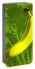 Banana Pop Art Portable Battery Charger by Jean luc Comperat