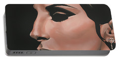 Barbra Streisand Portable Battery Charger by Paul Meijering
