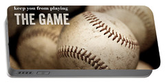 Baseball Art Featuring Babe Ruth Quotation Portable Battery Charger by Lisa Russo