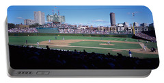 Baseball Match In Progress, Wrigley Portable Battery Charger by Panoramic Images