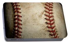 Baseball Seams Portable Battery Charger by David Patterson