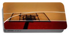 Basketball Shadows Portable Battery Charger by Karol Livote