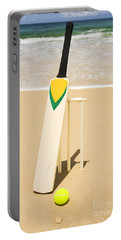 Bat Ball And Stumps Portable Battery Charger by Jorgo Photography - Wall Art Gallery