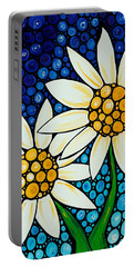 Bathing Beauties - Daisy Art By Sharon Cummings Portable Battery Charger by Sharon Cummings