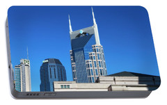 Batman Building And Nashville Skyline Portable Battery Charger by Dan Sproul