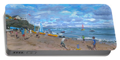 Beach Cricket Portable Battery Charger by Andrew Macara